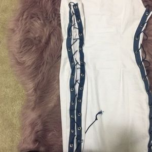 Fashion Nova Dresses - Fashion Nova lace up denim dress